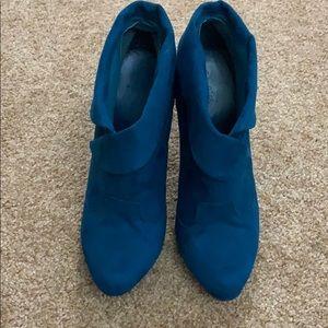BOGO FREE🍁Qupid Blue Suede Heels